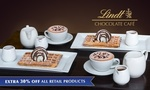 50% off on Lindt Signature Waffles and Hot Drinks for Two People for $24.70 @ Lindt Chocolate Cafe via Groupon