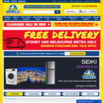 Free SYD/MEL Metro Delivery - In Store & Online, $300 Min Spend @ 2nds World