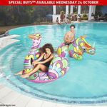 Win 1 of 2 Packs of 2 Bestway Street Art Style Inflatables and Crane Water Hammocks from ALDI