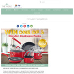 Win 1 of 3 Circulon Cookware Packs Worth $350 from Catch