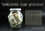 Worldwide Cash Giveaway (3 winners) $100/$75/$25 Paypal from Moss Reviews
