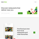 30% off 2 Orders (Up to $30 off Each Order) via Uber Eats App