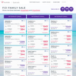 Virgin Australia Fiji Sale, MEL $599 Ret, $1299 Business Ret, SYD $579 Ret, $1199 Business Ret + More