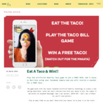 [VIC] Redeem a Free Taco from Taco Bill When You Play The Taco Bill Augmented Reality Game
