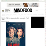 Win 1 of 30 In-season Double Passes to 'Red Joan' Worth $40 from MiNDFOOD