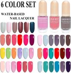 25% off Water-Based Nail Polish 6 Colour Set (Free Shipping in Australia) @ Carlo Rista