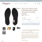 Buy 1 Get 1 Free Cinnamon Insoles 2 Pairs for  $9.95 (Was $19.90) Shipped @ Cinnamon Insoles
