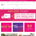 Free Local Delivery When You Spend $999 or More @ Snooze