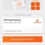 [VIC] $8 off Rides, Off Peak Times Only, Use By Friday 18/10 @ DiDi