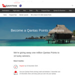 Win 10 x 1 Million Qantas Points from Qantas
