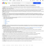 $5 Voucher (Min Spend $50) Every 30 Days (Total $60/Year) for Paid eBay Plus Members @ eBay Australia