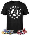 Marvel Avengers Beast Kingdom T-Shirt & Pen with Pull Back Car Set Bundle A$28.99 (RRP $142.99, Save A$114) + Postage @ Zavvi