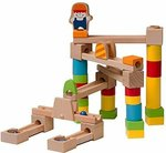 Wooden Marble Run - 40 Piece Set - Marbles Included $19.95 + Delivery ($0 with Prime/ $39+) @ Checkered Choice Amazon AU