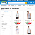 Russell Athletic Men's/Women's Tee/T-Shirt $5 Each + Delivery @ Catch
