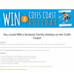 Win a Coffs Coast Holiday Valued at $2995 from Coffs Harbour City Council