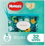 Huggies Wipes Refillable Clutch `N' Go, 32 Wipes $4.86  + Delivery ($0 with Prime/ $39 Spend) @ Amazon AU
