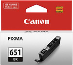 JB Hi Fi - Canon CLI651BK Ink Cartridge (Black) $2 (Usually $28)