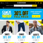 30% off Full Price Clothing @ Connor
