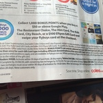 1000 flybuys Points with $50 / $50+ Google Play/Restaurant Choice/Him/Kids Card/City Beach or $100 EFTPOS GC ($5.95 Fee) @ Coles