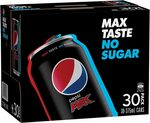 Pepsi Max 30x 375ml Cans $16 + Delivery ($0 with Prime/ $39 Spend) @ Amazon AU