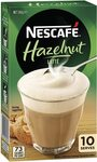 Nescafé Hazelnut Latte Coffee Sachets 10 Pack $2 ($1.80 with S&S) + Delivery ($0 with Prime/ $39 Spend) Amazon (AU)