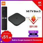 Xiaomi Mi Box S Android 4K TV Box (Global Version) US$57.19 (A$79.86) @ AliExpress Xiaomi MC Store