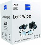 ZEISS Lens Wipes - Pack of 200 $13.89 + Delivery ($0 with Prime over $49) @ Amazon UK via AU