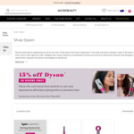 15% off Dyson Hair Products at Adore Beauty