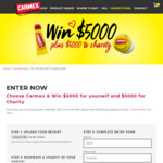 Purchase a Carmex Lip Balm & Win $5000 for Yourself & $5000 for Charity from Carmex