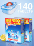 Finish Powerball All-in-One Dishwashing Tablets 140pk $24.99 + $5.99 Delivery