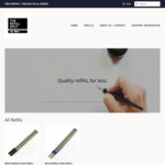 20% off Montblanc Compatible Refills X2 for $15.16, X5 for $31.96 + Free Shipping @ The Refill Spot
