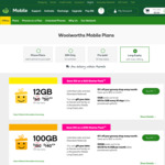 $10 off Long Expiry Prepaid SIM Packs: 12GB 180 Days for $50, 100GB 1 Year for $140, 150GB 1 Year for $190 @ Woolworths Mobile