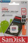 SanDisk 200GB Ultra A1 Micro SD Card $26.99 + Delivery (Free with Prime / $39 Spend) @ AZ eShop via Amazon AU