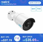 Reolink RLC-510A 5MP PoE IP Camera with Person/Vehicle Detection US$49.09 (~A$64.29) Delivered @ Reolink via AliExpress