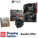 AMD Ryzen 5 3600 AM4 CPU + MSI B450 Tomahawk II ATX Motherboard Combo $349 + Delivery @ Shopping Express