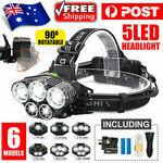 [eBay Plus] 95000LM 5X XM-L T6 LED HEADLAMP $2.85 Delivered @ ewook2014 eBay