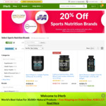 20% + 5% off Select Brands for Sports Nutrition and More @ iHerb