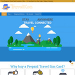 30% off All Prepaid Travel eSim / Physical SIM (e.g. New Zealand) from $17.50 Delivered @ TravelKon