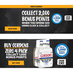 Bonus Flybuys Points: 2000 with $50 Click & Collect; 1000 with Gordon's Zero 4×300ml ($12, Online Only) @ First Choice Liquor