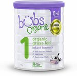 Bubs Organic Grass Fed Infant Formula 800g $9 (RRP $30) + Delivery ($0 with Prime/ $39 Spend) @ Amazon AU