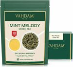 35% off Mint Green Tea Loose Leaf (100 Cups) $19.49 + Delivery ($0 with Prime/ $39 Spend) @ VAHDAM Amazon AU