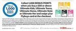 1000 Bonus Flybuys Points with $50+ Ultimate Kids, Teens, Home, Style or Her Gift Card @ Coles