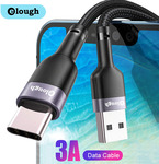 Elough 3A USB to USB-C Nylon Braided Charging Cable 2m US$3.15 (~A$4.35) Delivered @ Elough Store AliExpress