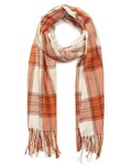 Gregory Ladner Check Scarf with Fringing Orange/Ivory $13.30 at Checkout (RRP $39.95) + Delivery @ David Jones