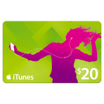 8x iTunes $20 Gift Cards for $13.75/Card (31% off) Delivered at BIGW -Online & Today Only