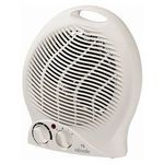 $15 Fan Heater - 3 Settings, 2000W, Adjustable Thermostat, Overheat Prot, Tip over Switch- BigW