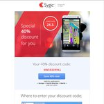 Sygic Maps 40% off Coupon on World Map [Android]