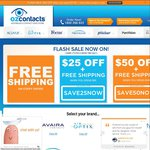 $25 off $99 Spent on Contact Lenses at Oz Contacts + Free Delivery