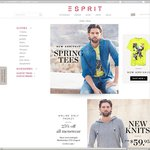 Esprit Online Store - 25% off All Menswear for One Day - Includes SALE & Regular Priced Items