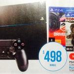 Sony PS4 Console + DriveClub & Tomb Raider- $498 @ Big W